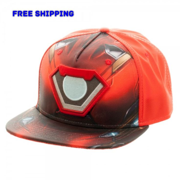 Marvel Captain America: Civil War Iron Man Ballistic Sublimated Snapback Cap Hat