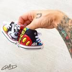 Custom Hand Painted Toddler Mickey Converse Chucks