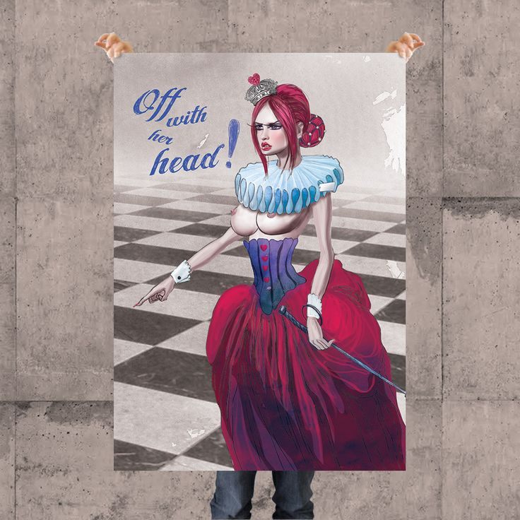 RED QUEEN POSTER BY KSANEEMPIRE FOR MOLEECO CLOTHING Special collection of posters designed by KsanaEmpire specifically for moleeco clothing. Most of the themes of the posters are also available on clothings.  Our posters are printed on high quality paper.