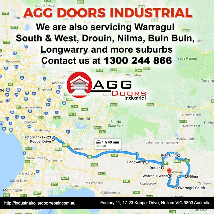 We cater services to suburs like Warragul, Drouin, Nilma, Longwarry, Buln Buln and more. Contact us at 1300244866   #industrialdoorrepair #industrialrollerdoorrepair #commercialrollershutterrepair #rollershutterrepairsMelbourne #commercialrollerdoorrepair