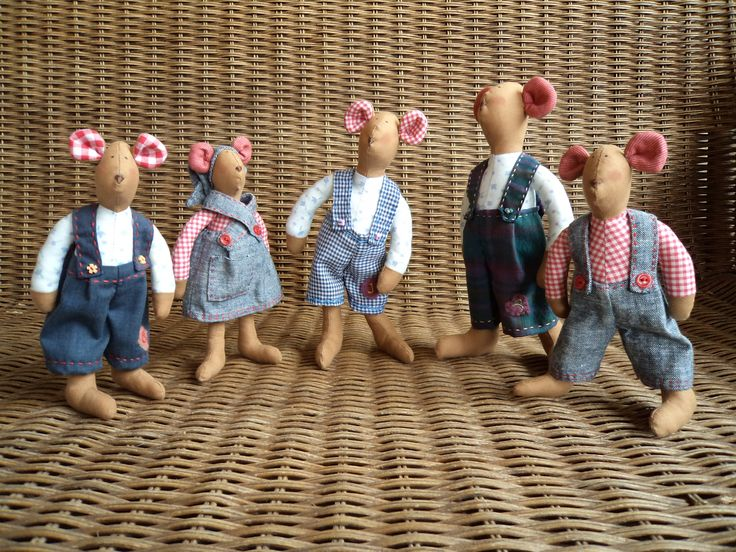 Ratones. Ver detalles en http://las flamenkitasdelpatch.blogspot.com