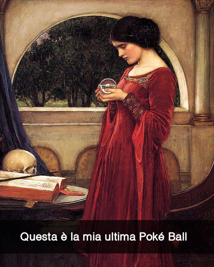 Aggiungimi su Snapchat nuove storie ogni giorno: stefanoguerrera  La palla di Cristallo - John William Waterhouse (1902)  #seiquadripotesseroparlare
