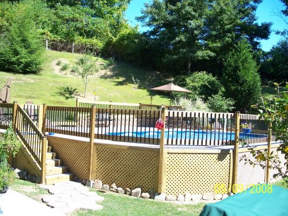 Decks And Patios Around Above Ground Pool Pictures