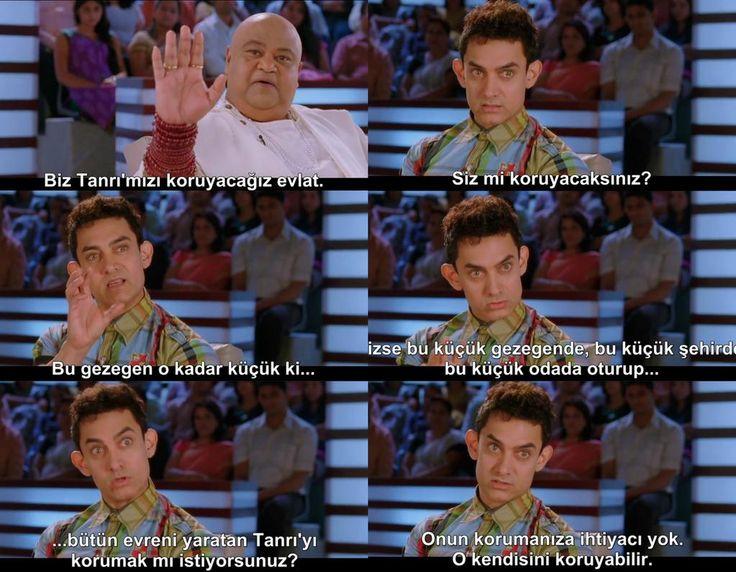 Aamir Khan demek;verilmesi gereken cevabı en zekice veren adam demek. #PK