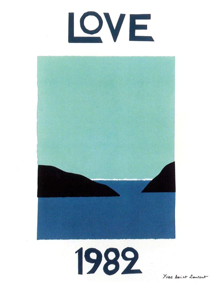 love poster by yves saint laurent, 1982