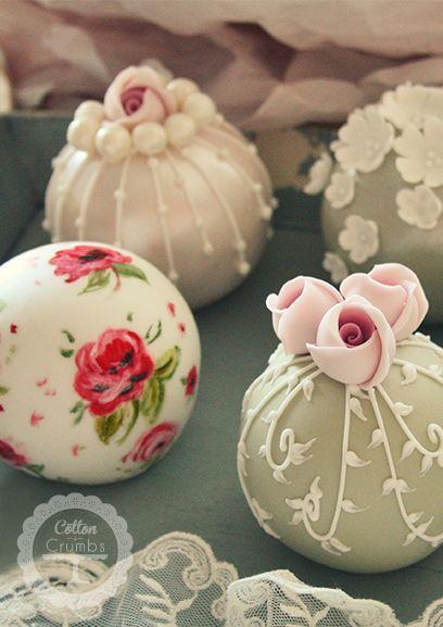Vintage Spheres--cake pops