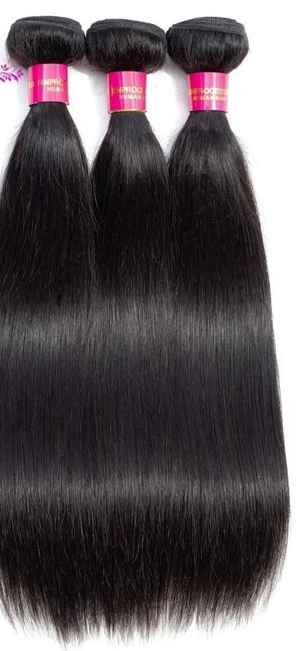 Peruvian Straight Hair Bundles 100% Human Hair Weave Bundles