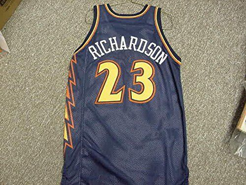 Jason Richardson. Golden State Warriors Navy Lightning Bolt Style Jersey
