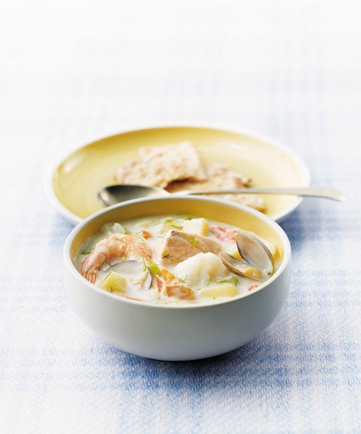 Classic Maritime Seafood Chowder – Uteki Recipes, Food, & Cooking