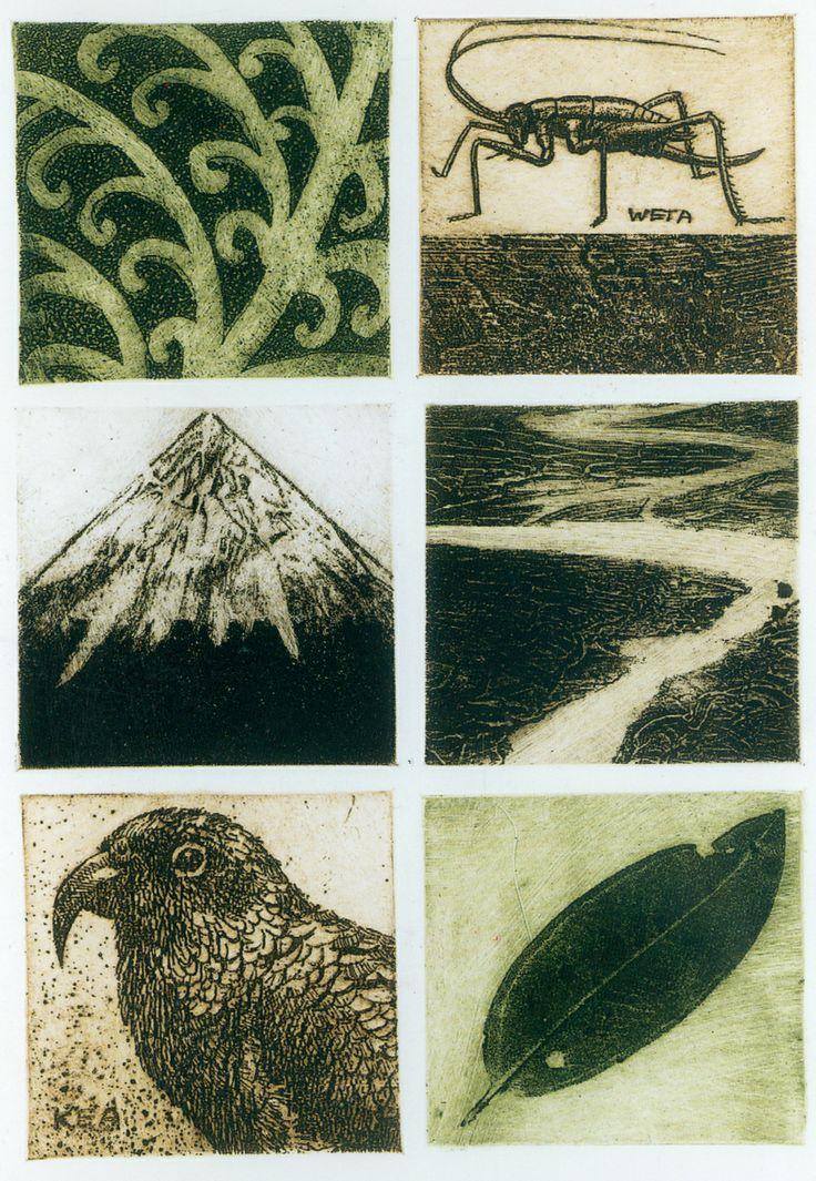 Cynthia Taylor NZ printmaker. Natures Imprint