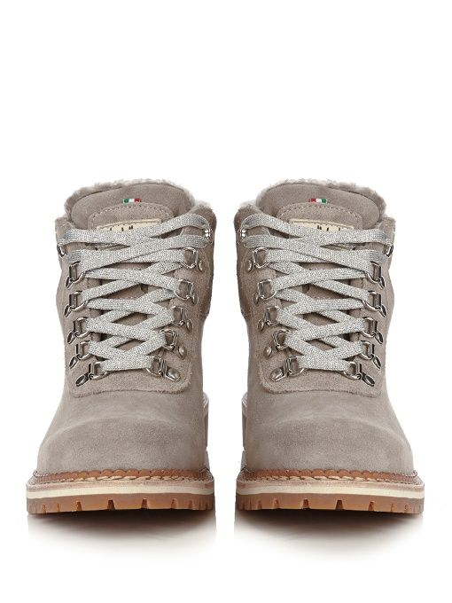 Montelliana Sequoia shearling-lined suede après-ski boots