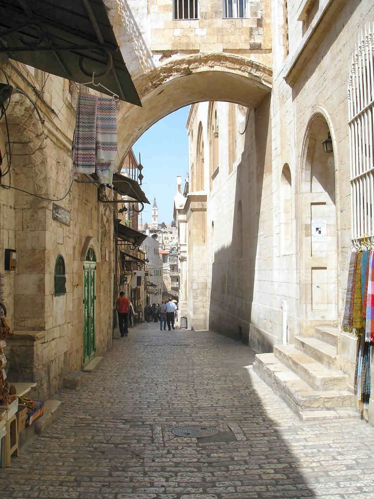 Via Dolorosa, Jerusalem, Israel, To walk the path Jesus walked to his crucifixion