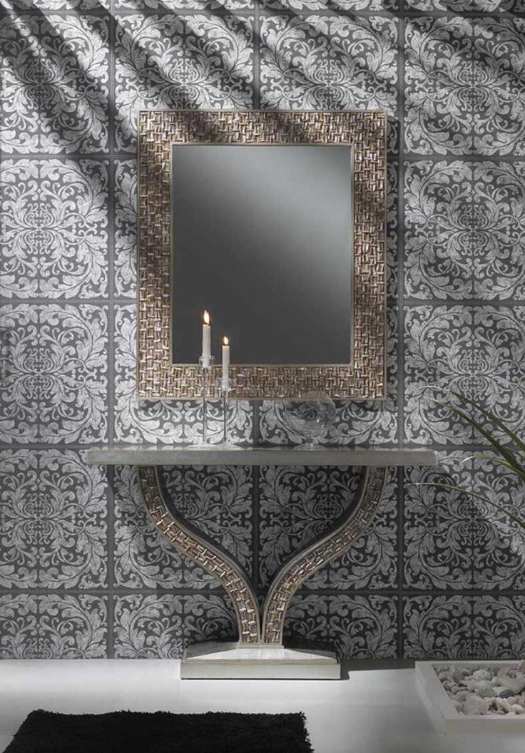 Espejos de dise o en madera modelo fettah decoracion for Espejos decorativos baratos online