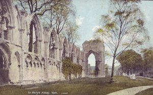 """6"""" x 4"""" Birthday Greetings Card English Church Yorkshire St Mary's Abbey Y125 by Danetre Gifts. $3.49. Suitable for any occasion. PLEASE NOTE THAT MANY OF THE ENGLISH CHURCH IMAGES USED ARE SCANNED FROM OLD POSTCARDS. IMAGE QUALITY FROM THESE SCANS IS DECIDED BY THE IMAGE QUALITY OF THE ORIGINAL POSTCARD AND IN MANY CASES THE IMAGE QUALITY IS POOR BUT WE FEEL REFLECTS THE AGE THE PHOTOGRAPH WAS TAKEN IN ACCURATELY.. 6"""" x 4"""" approx Hand produced greeting/birthday card featuring t..."""