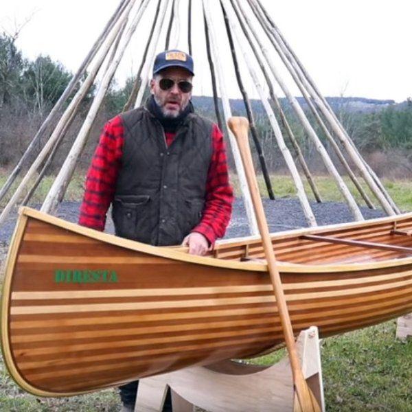 Diresta Builds A Canoe Make Wood Boat Plans Wooden Boat Plans Plywood Boat Plans