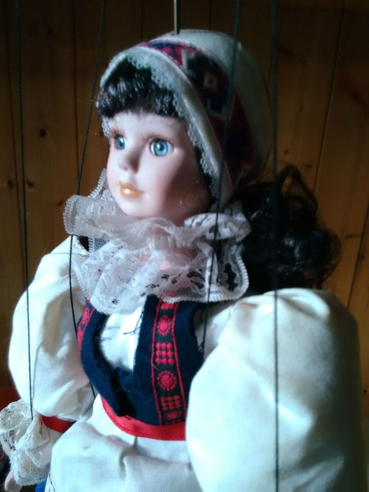 Bambola in Porcellana Meccanismo Burattino Artigiano sconosciuto - UNICA