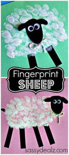 An easy activity for students with special learning needs or fine motor challenges. Great addition to your farm unit this spring. Get all the directions at: http://www.craftymorning.com/fingerprint-sheep-craft-kids/
