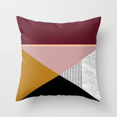 Abstract Boho marble Throw Pillow by Laura Moreau - $20.00
