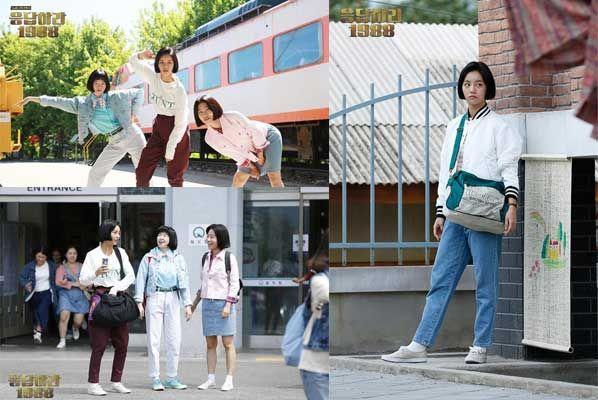 Hyeri 'Girl Day', Lee Min Ji dan Lee Se Young, bertransformasi menjadi anak sekolah tahun 80 an, dengan rambut bergaya bo