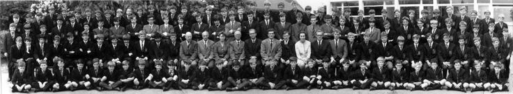 Amersham College of St. Thomas a Becket, in Amersham, England. 1960s. Brendan and Brian Dooley both somewhere in here!