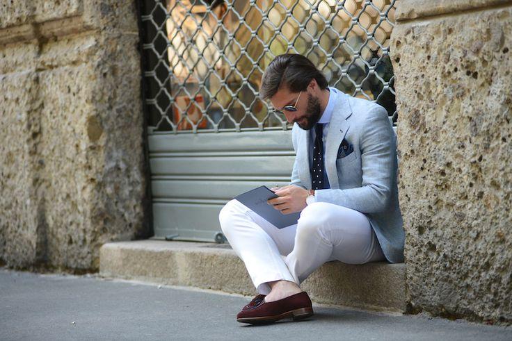 """世界のファッションの""""リアル""""を伝える「ストリート・スタイル」。今回はKarl Edwin GuerreのミラノコレクションSS16のストリートから。"""