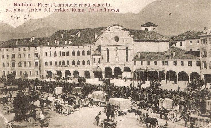 Piazza Campedèl Belluno Dolomiti Veneto Italia