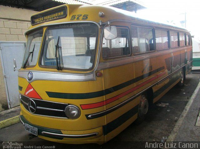 Ônibus da empresa Viação Araguarina, carro 575, carroceria Mercedes-Benz Monobloco O-321, chassi Mercedes-Benz O-321. Foto na cidade de Goiânia-GO por André Luiz Canon, publicada em 01/09/2017 13:43:01.
