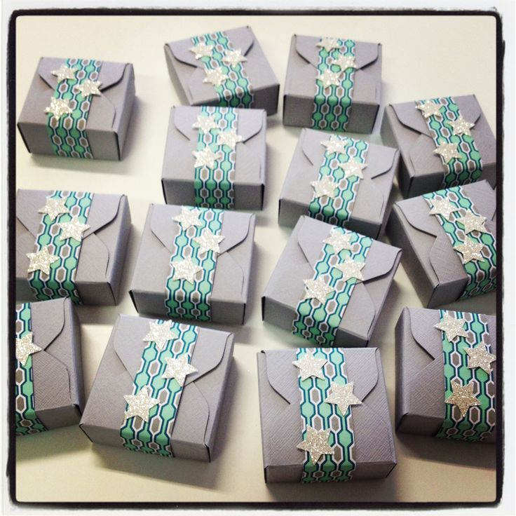 Envelope Punch Board treat boxes