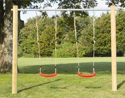 Gør din børn en tjeneste og pynt din have med gyngestativ/legetårn.