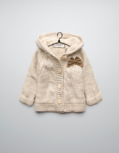 cable knit coat with bows: Knits Coats, 3 36 Months, Girls 336, Zara Cable, Girls 3 36, Baby Girls, Babieskid Fashion, Zara United States, Cable Knits
