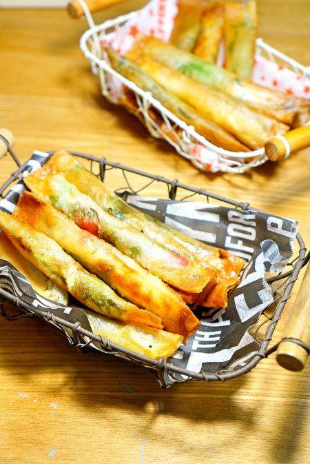 味付け不要!サッパリ美味しい♪ささみ梅紫蘇マヨ春巻きのレシピ☆
