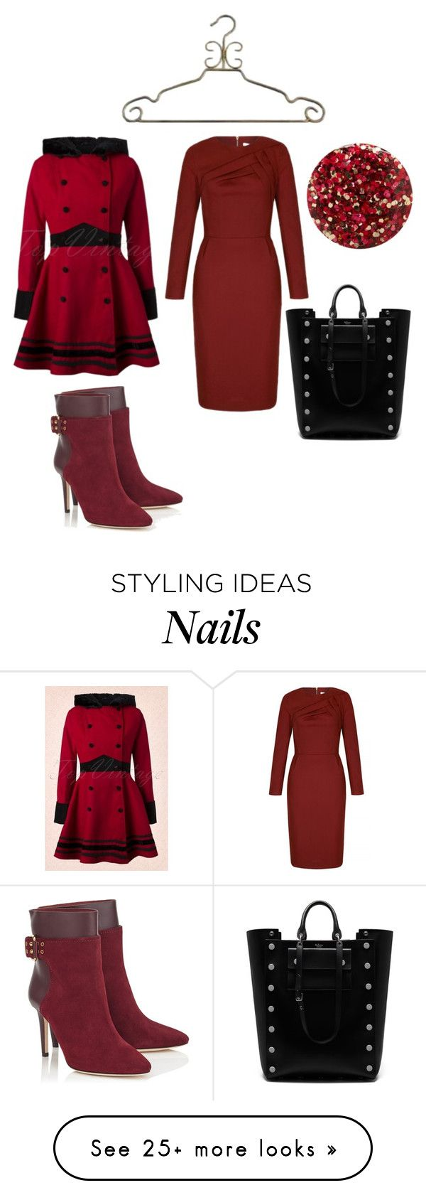 """""""2016 PRETTY IN WINTER"""" by michelle858 on Polyvore featuring Mulberry and Nails Inc."""