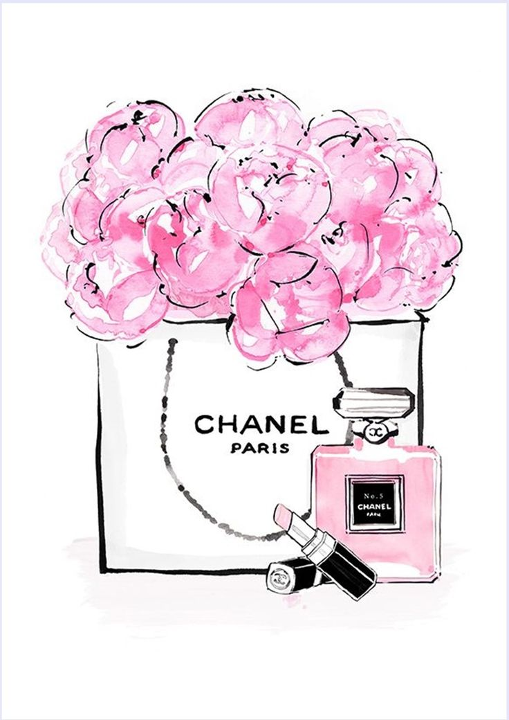 imagens-para-quadrinhos-poster-para-imprimir-batom-perfume-chanel-rosa-blog-dikas-e-diy.jpg (840×1188)