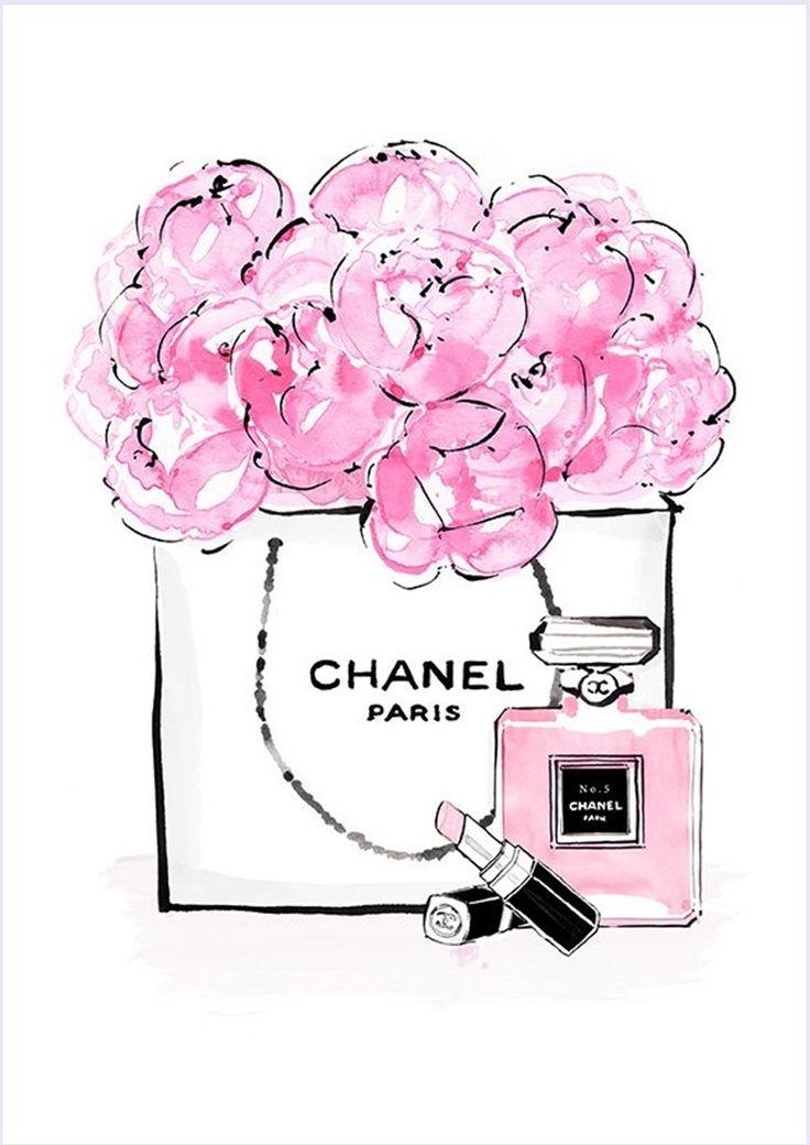Imagens para quadrinhos - poster para imprimir - batom-perfume- chanel - rosa -Blog Dikas e diy                                                                                                                                                                                 Mais