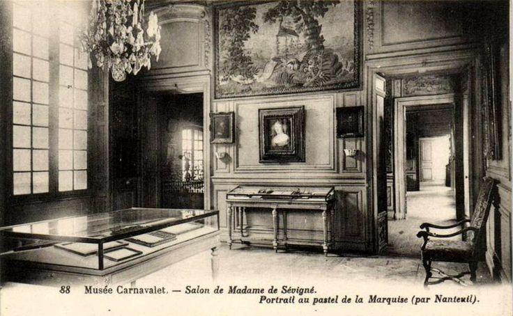 Inside the Salon of Madame de Sévigné at the Musée Carnavalet, Paris