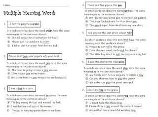Printables Multiple Meaning Words Worksheets 3rd Grade 1000 ideas about multiple meaning words on pinterest homographs free worksheet