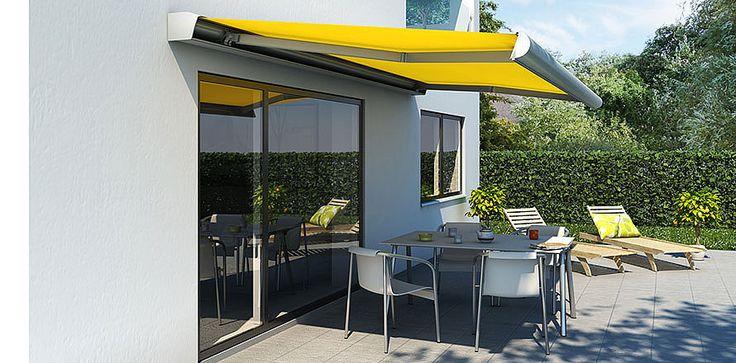 Fischers kollektion af terrassemarkiser omfatter duge i en lang række farver og mønstre. Kassetterne kan lakeres i alle RAL farver, og markiserne kan leveres med firmalogo. Se kollektionen her http://fischer-danmark.dk/kollektion/
