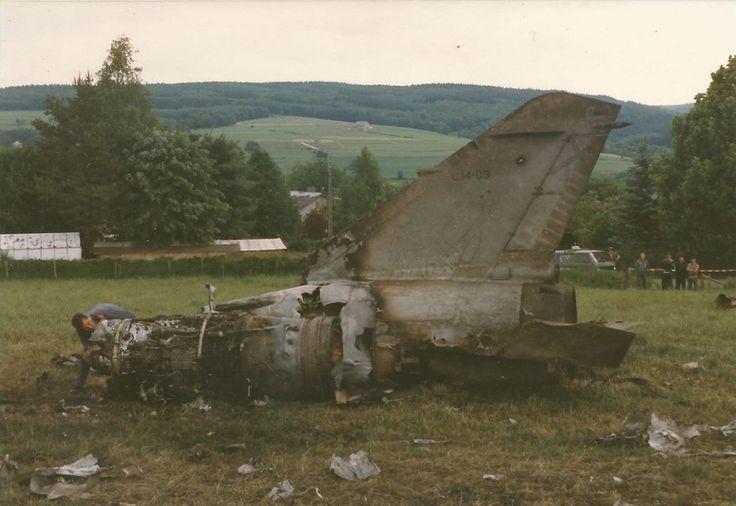 Mirage F-1 del 462 Escuadrón accidentado en Bélgica durante un destacamento en Düren, Alemania