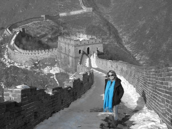 Great Wall of China (black, white & blue)