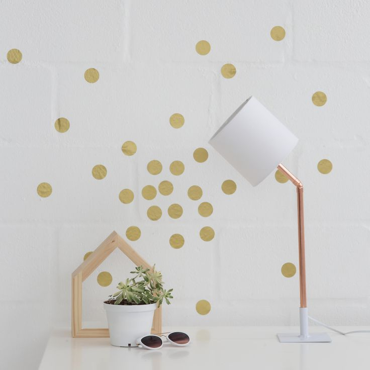 Add spots of style to your apartment or office – arranged in a row, at random, or to make shapes and patterns. They're individual pieces sold as a set, so it's up to you how you position them, and they're temporary – so whether you're giving your home a seasonal update, adding a personal touch to a res room or decorating for a kid who's growing up fast, there's no restriction on how creative you can get.