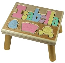 33 best kids step stools images on pinterest banquettes personalized puzzle step stool nat maple princess negle Gallery