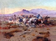 The Attack  by Charles Marion Russell