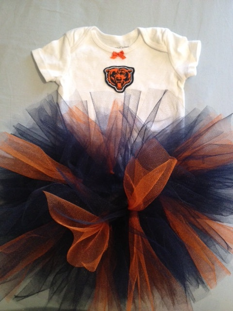 NFL Chicago Bears Tutu Cheer Dress Outfit for Baby Girls. $19.45, via Etsy.