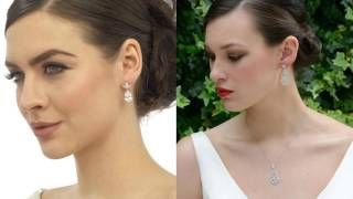 How to wear your wedding jewellery - Your bridal jewellery should compliment your dress and wedding hair accessories. Brides often buy matching bracelets or necklaces for their bridesmaids as gifts. See more here: https://www.ayedoweddings.co.uk/wedding-jewellery/