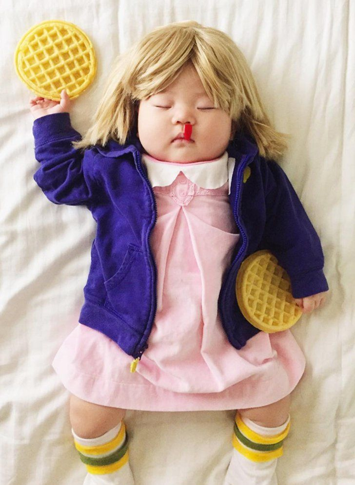 This Tiny Infant's Pop Culture Halloween Costumes Are a Real Treat