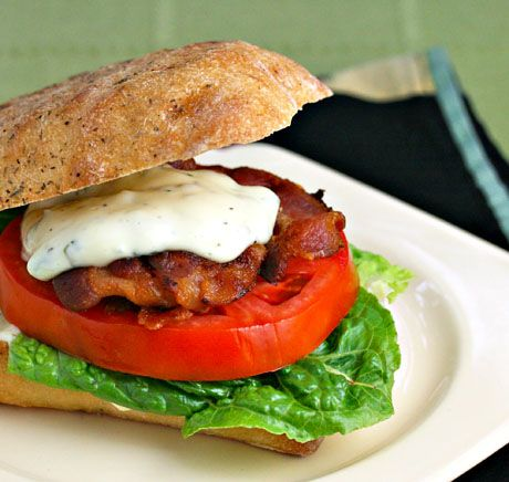 Recipe for the world's best bacon, lettuce and tomato sandwich {The Perfect Pantry}