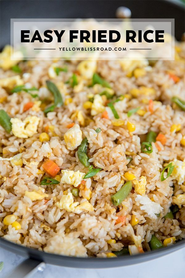 Egg Fried Rice Recipe Easy Rice Recipes Food Recipes Easy