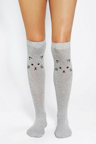 To peek out over your boots -- Kitten Knee-High Socks!  Buy them or DIY