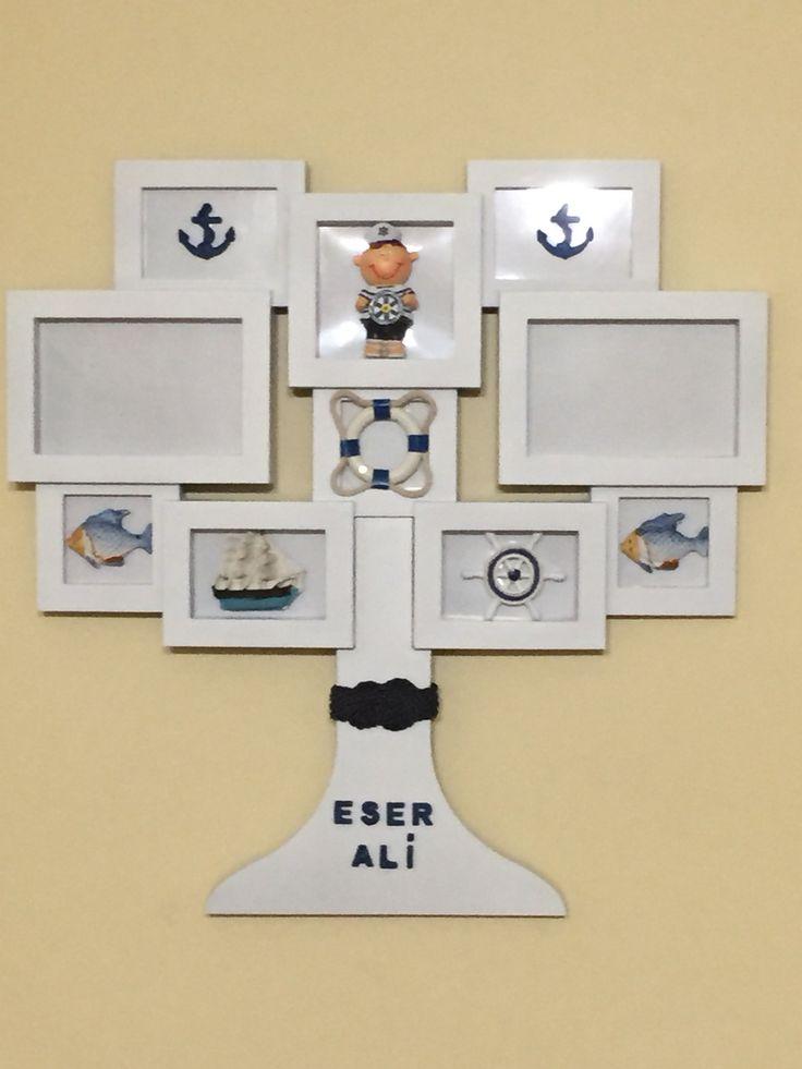 Eser Ali için hazırladığımız denizci TEMA'lı kapı süsü...