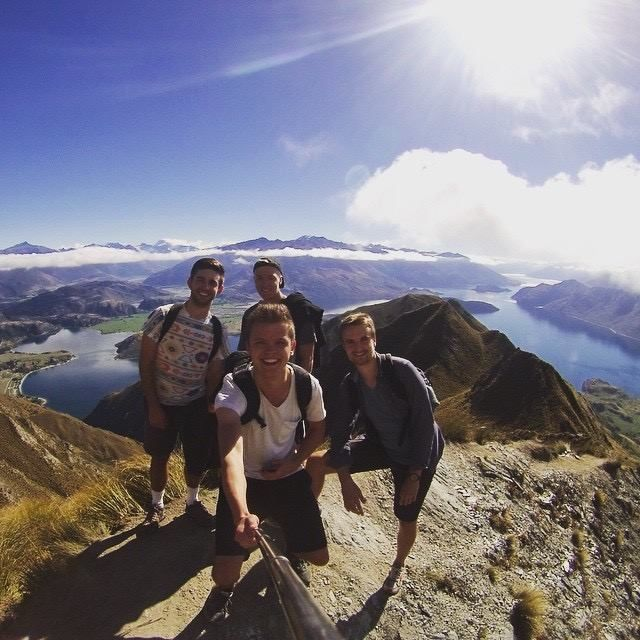 """""""Hi - these are two of my favorite mountains in New Zealand. Me and my new friend I made at AUT climbed Mount Roys peak and Mount Egmont!"""""""